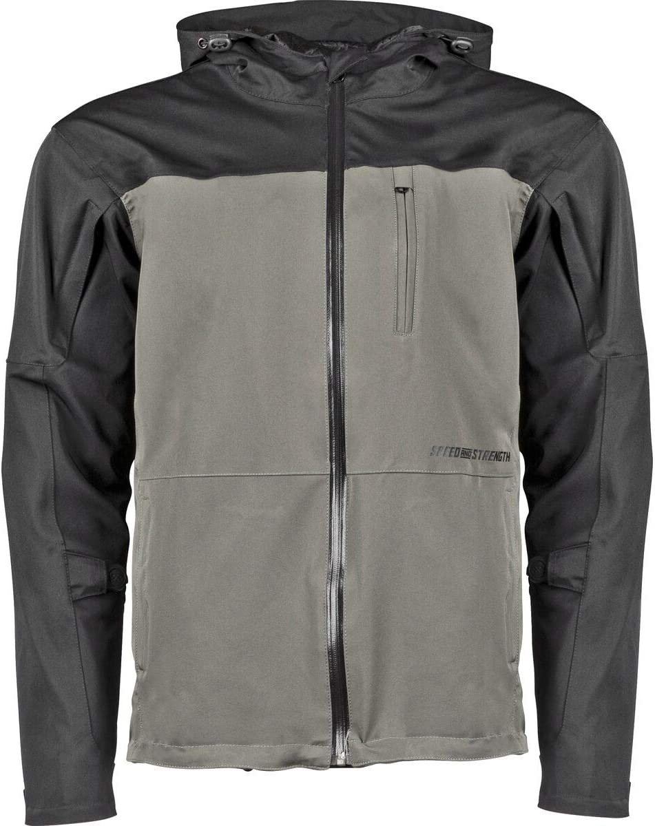 Black//Olive Sz XL Speed And Strength Fame And Fortune Waterproof Textile Jacket