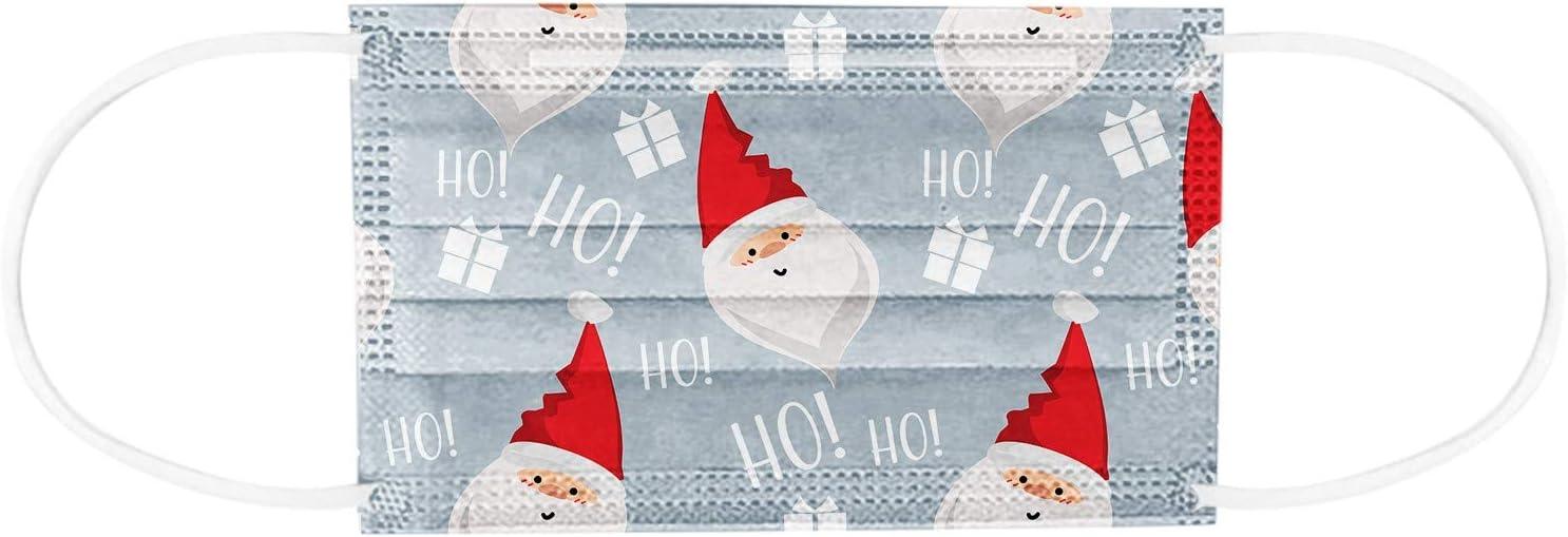 Yurgrt Adulto Dibujos Adultos 10 Unidades Navidad Poli/éster Estampado Transpirable Polvo Para Adultos 10 Unidades A