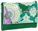 Desigual Mone_Peque.ROSCON - Monedero de Material sintético Mujer, Color Verde, Talla 4x10x13 cm (B x H x T)