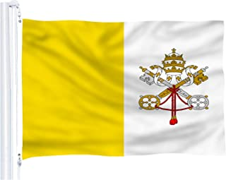 DFLIVE Vatican Country Flag 3x5 ft Printed Polyester Fly Vatican National Flag Banner with Brass Grommets …
