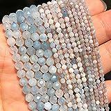 Facetada Azul aguamarinas Perlas de Piedra Perlas de Gema Sueltas Naturales para la fabricación de Joyas Bricolaje (Item Diameter : 2mm-170pcs)