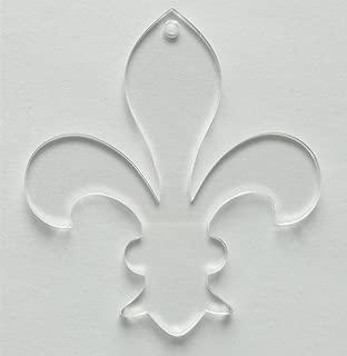 10PCS Clear Blank Acrylic Fleur Key Chains Laser Cut Fleur-de-lis Oranments, 3inch Transparent Acrylic Laser cut 1/8 Thickness