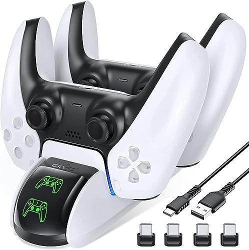 OIVO Chargeur Manette PS5, Chargeur PS5 pour Playstation 5, Support Manette PS5 avec Indicateur LED pour Manette PS5,...