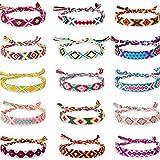 Hicarer 15 Pieces Woven Friendship Bracelets Colorful Handmade Braided Thread Bracelet for Women Girls Favor (Ethnic Patterns)