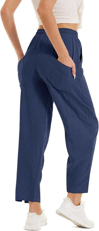 TACVASEN Women's Casual Cotton Linen Jogger Pants Be Special sale item 40% OFF Cheap Sale Summer Yoga