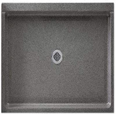 Swanstone SF03442MD.011 Solid Surface Center Drain Shower Base, 42-in L X 34-in H X 5.5-in H, Tahiti White