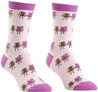 Sock It To Me Women's Peanut Butter and Jelly Sandwich Crew Socks
