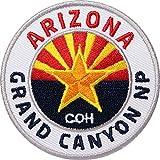 2 x Arizona Grand Canyon Aufnäher gestickt 62 mm / USA Amerika Nationalpark / Patch Aufbügler Flicken Patches zum Aufbügeln Aufnähen auf Jacke Rucksack / Colorado Utah Kalifornien Mexiko Reiseführer