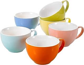 Panbado Juego de Tazas de Porcelana de 6 Piezas Tazas de Cer