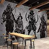 YCRY - Fototapete - Tapete 3D japanische Samurai Cement Wall Art Cafe Coverage - Moderne Wanddeko - Design Tapete - Wandtapete - Wand Dekoration-280x200cm