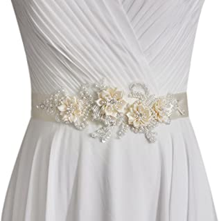 Women's Flowers Bridal Sash Bridal Belt Pearls Wedding Belts Wedding Sashes