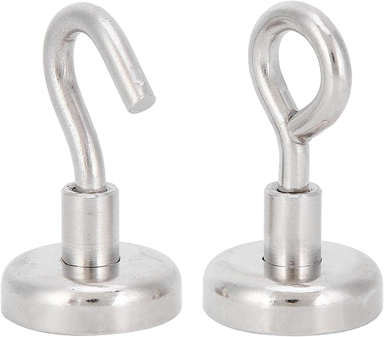 Lifting Magnet 2PCs Magnetic 100% quality warranty Fishing Hangin Max 79% OFF Hook Kitchen