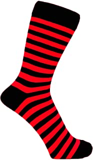 Mens Thin Striped Cotton Rich Ankle Socks Size 6-11