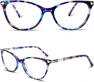 Non Prescription Gl Eyeglass Frames for Women, Cat Eye Gl Frames with Clear Lens, Designer Handmade.