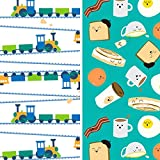 Honest Baby Diapers, Club Box, Trains & Breakfast, Size 2, 76 Count