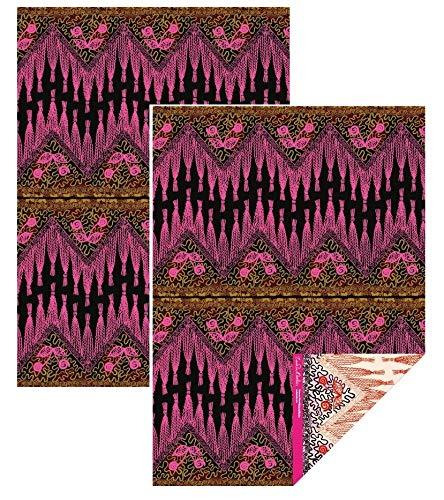 Museum and Galleries Zandra Rhodes Zickzack-Schal, doppelseitig, 2 Blatt
