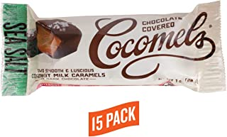 Chocolate-covered Cocomels - Coconut Milk Caramels - Organic - Made Without Dairy (Sea Salt, 15 pack), 1 Oz each