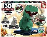 Educa Borrás- Color 3D Sculpture Puzzle T-Rex (17848)