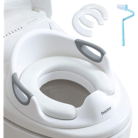 Asiento de inodoro para niños, Reductor de WC para Bebé, Tapa WC con reposabrazos, redondos y ovalados