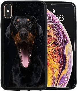 VIKKO Cute Doberman Dog iPhone Xs MAX Case Cell Phone Basic Cases Anti-Scratch Shock-Absorption Bumper Case Cover Slim TPU Back Protective Case Mobile Phone Case for iPhone Xs MAX