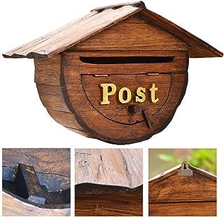 木製のメールボックス、ミニボックス提案レターボックス防雨ウォールマウントメールボックスDecro表示ストレージボックス