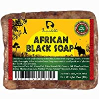 #1 Best Quality African Black Soap - Bulk 1lb Raw Organic Soap for Acne, Dry Skin, Rashes, Burns, Scar Removal, Face & Body Wash, Authentic Beauty Bar From Ghana West Africa - Incredible By Nature 141[並行輸入]