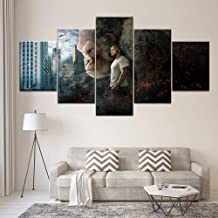 5 Modular Canvas Paintings Dwayne Johnson Rage Movie Poster HD Art Wall Printed on Canvas Decorate Kids Room