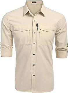 95b535e9 8 · COOFANDY Mens Quick Dry UV Protection Outdoor Shirt Long Sleeve Button  Down Hiking Fishing Shirts