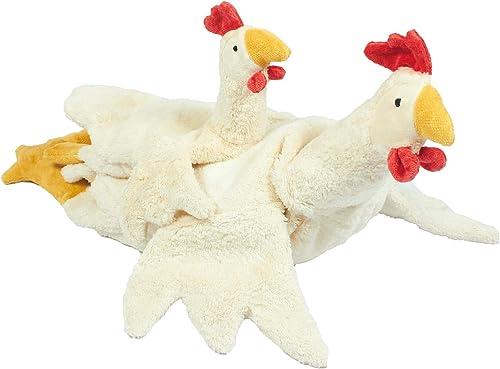 SENGER Tierpuppen Kuscheltier Huhn,  , Weiß