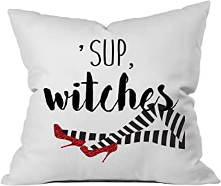 Oh, Susannah Halloween 'Sup Witches Halloween Pillow Covers 18 x 18 Inch - Witch Decor (1 18x18 Pillow Cover)