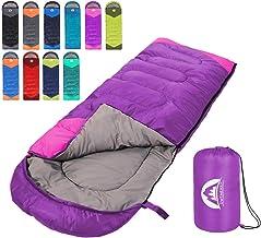 Sleeping Bag 3 Seasons (Summer, Spring, Fall) Warm & Cool Weather - Lightweight,Waterproof Indoor & Outdoor Use for Kids, ...