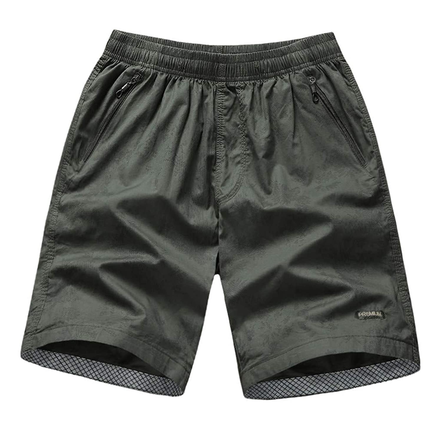 Mens Shorts Cargo Big and Tall Loose Fit Mens Shorts Casual with Zipper Pockets