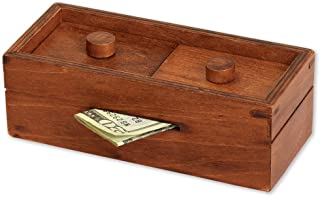 niumanery Puzzle Gift Case Box with Secret Compartments Wooden Money Box to Challenge