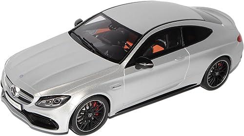 GT Spirit Mercedes-Benz C-Klasse C63 S AMG Coupe C205 Silber Ab 2015 1 18 Modell Auto mit individiuellem Wunschkennzeichen