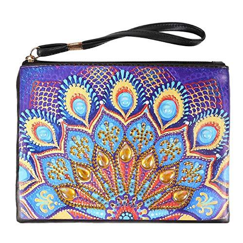 SOONHUA Damen Clutch-Handtasche aus PU-Leder mit Diamant-Malerei LBJHB002