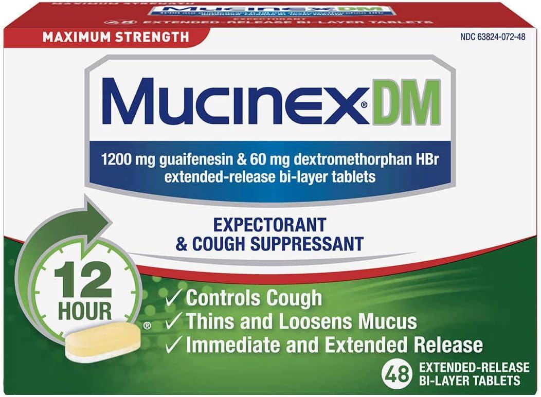 Surprise price Mucinex DM Maximum Strength and Cough Suppressant Expectorant Max 85% OFF