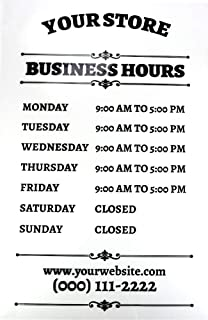 Buttonsmith Custom Store Hours Shop Sign - 12