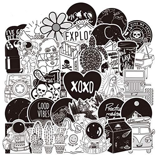 WYDML Popular Lindo pequeño Fresh Line Creativo Exquisito Equipaje Trolley Maleta niña niño Graffiti Pegatina 50 Uds