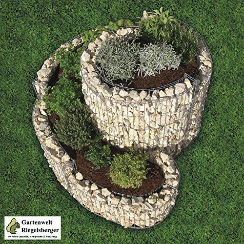 Gartenwelt Riegelsberger Kräuterspirale Gabione 90 x 110 cm, 95605