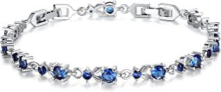 Women Tennis Bracelets Luxury White Gold Plated Bracelet with Sparkling Cubic Zirconia Xmas Gifts for Her