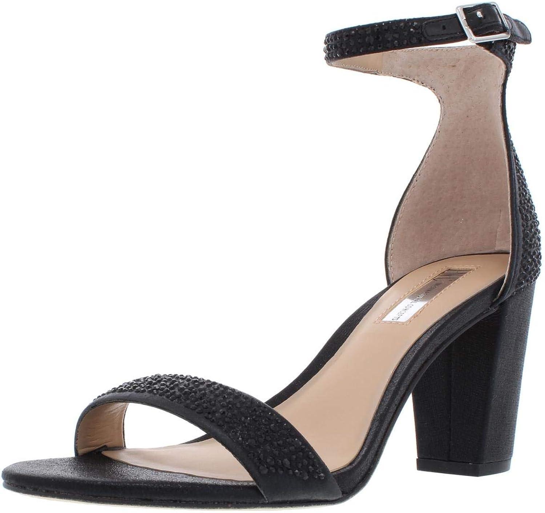 Inc Womens Kivah2 Metallic Studded Dress Sandals Black 7.5 Medium (B,M)