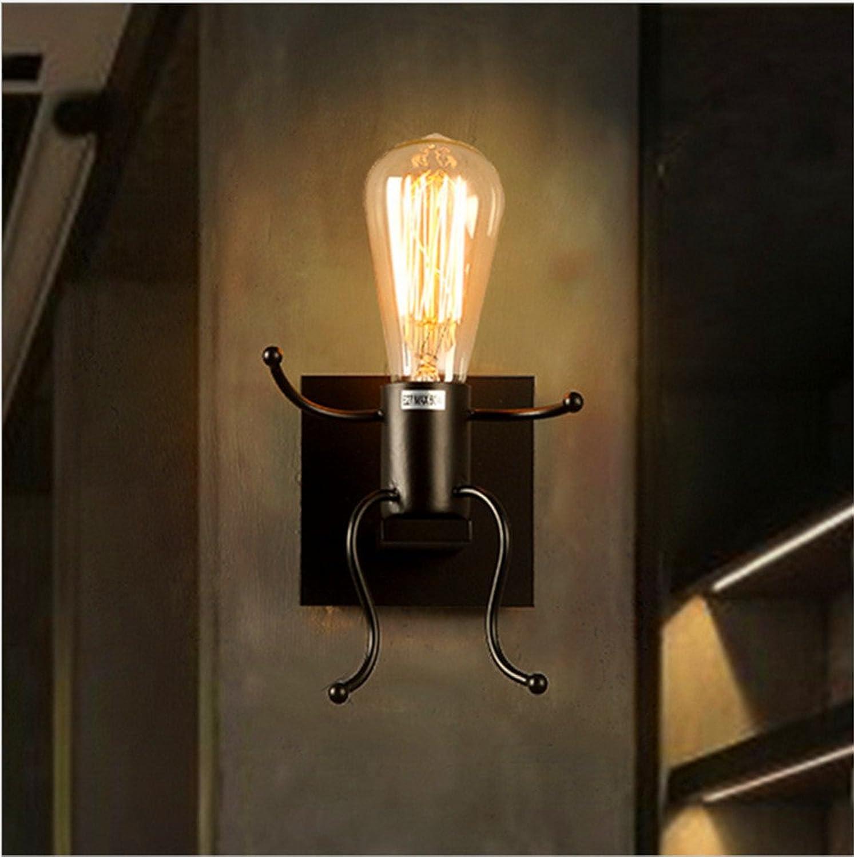 StiefelU LED Wandleuchte nach oben und unten Wandleuchten Rustikale schmiedeeiserne Lampen retro Schlafzimmer Bett Wandleuchten off road Roboter Wandleuchten (870 E)