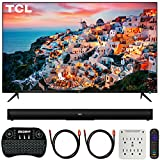 TCL 55S525 55-inch 5-Series Roku Smart HDR 4K UHD TV (2019) Bundle with TCL Alto 5 2.0 Channel Sound Bar, 2X Deco Gear 6FT 4K HDMI Cable, Wireless Keyboard and 6-Outlet Surge Adapter with Night Light