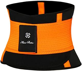 Women Slimming Body Shaper Waist Trainer Trimmer Fitness Corset Tummy Control Shapewear Stomach Trainers Makfacp (Color : Orange, Size : M)