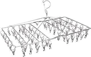 JKLKL Metal Multi-Clip Adult Children s Drying Rack  Home Multifunctional Saving Space Hanger Silver