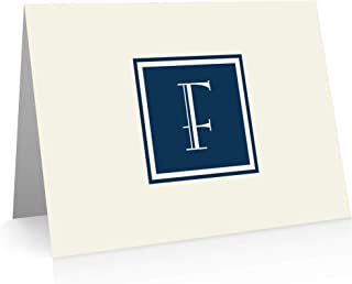 Monogram Stationery Note Cards - Monogram Thank You Cards (F)