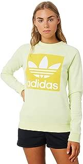 Adidas Women's Trefoil Crew Crew Neck Long Sleeve Cotton Yellow