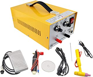 HUKOER 2 in 1 Pulse Sparkle Spot Welder 110V,Pulse-Electric Gold Silver Platinum High-Grade Steel Jewelry Welding Machine 80A Moulding Tools
