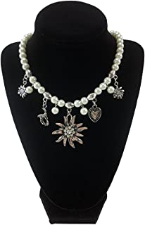Edelweiss and Pearls Necklace Jewelry