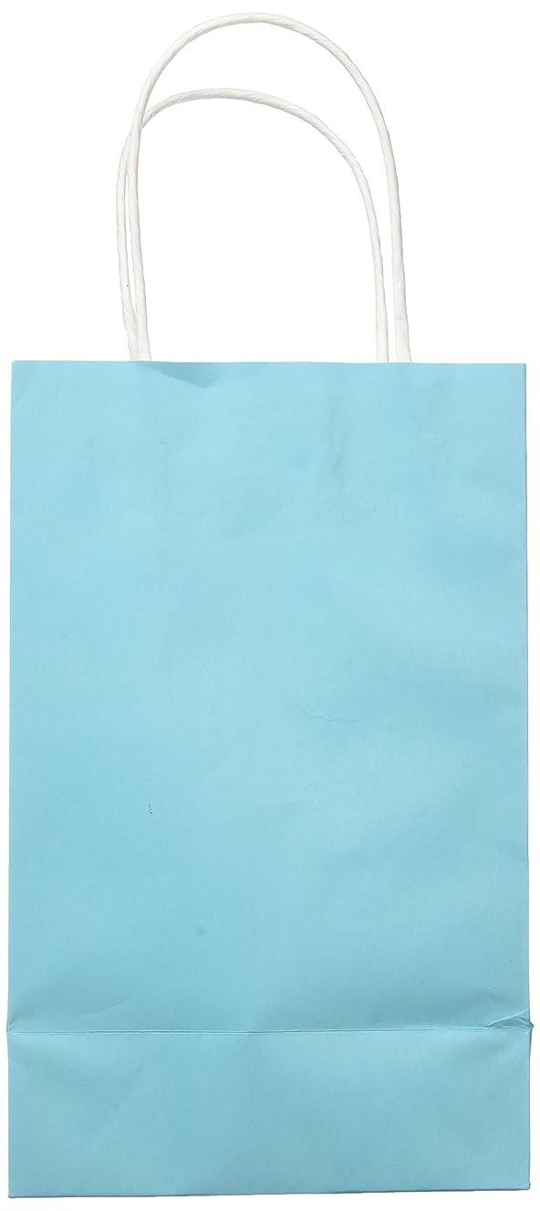 Caribbean Blue Solid Kraft Bag Cub